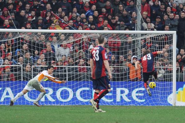 L'immensa gioia di Paloschi dopo il 4-3(Foto Valerio Pennicino/Getty Images)