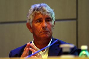 Il presidente della lega di B Andrea Abodi candidato alla presidenza Figc (Foto Gabriele Maltinti/Getty Images)