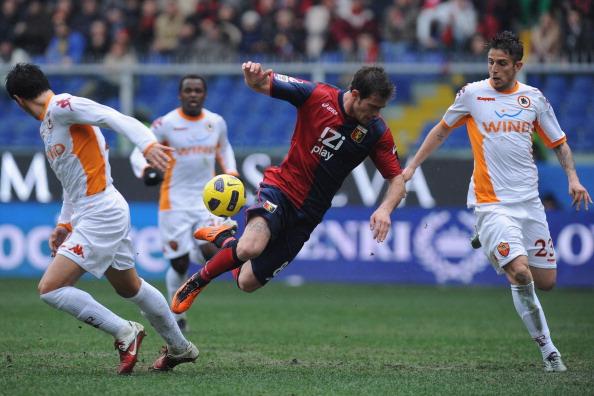 Floro Flores in Genoa-Roma 4-3 (Foto Valerio Pennicino/Getty Images)