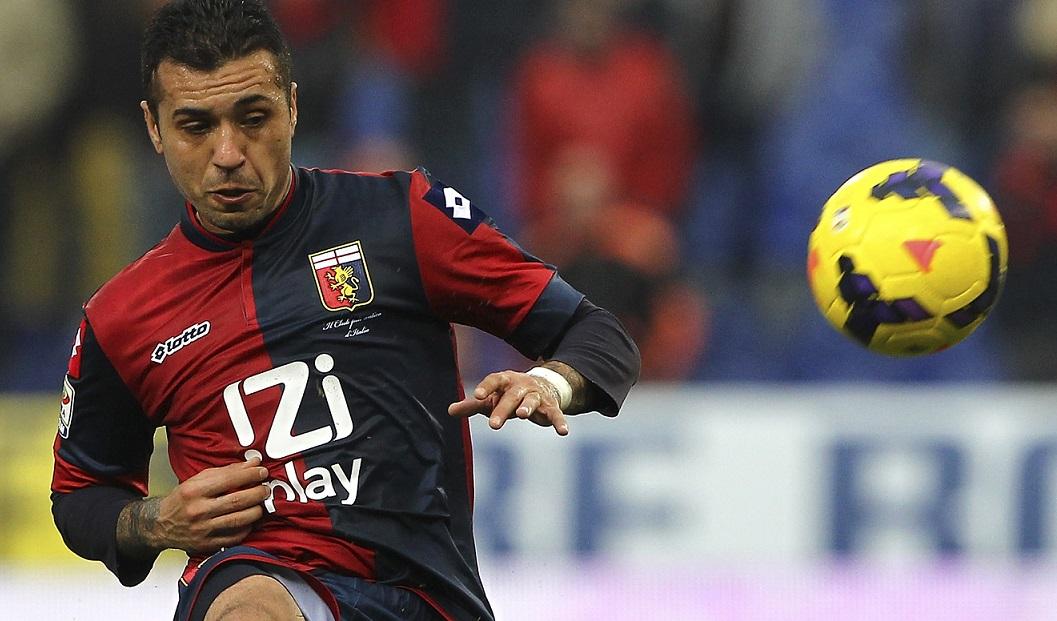 Francelino Matuzalem con la maglia del Genoa (Foto Giuseppe Bellini/Getty Images)
