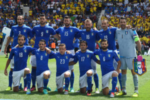 during the UEFA EURO 2016 Group E match between Italy and Sweden at Stadium Municipal on June 17, 2016 in Toulouse, France.