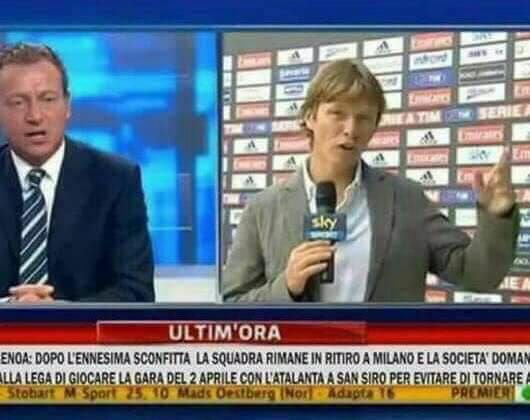 La falsa immagine di Sky Sport che gira sui social