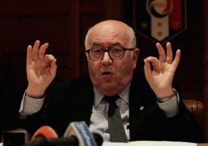Il presidente uscente della Figc Carlo Tavecchio (Foto Paolo Bruno/Getty Images)