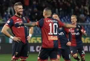 Andrey Galabinov e la posa dopo il gol (Photo by Emilio Andreoli/Getty Images)