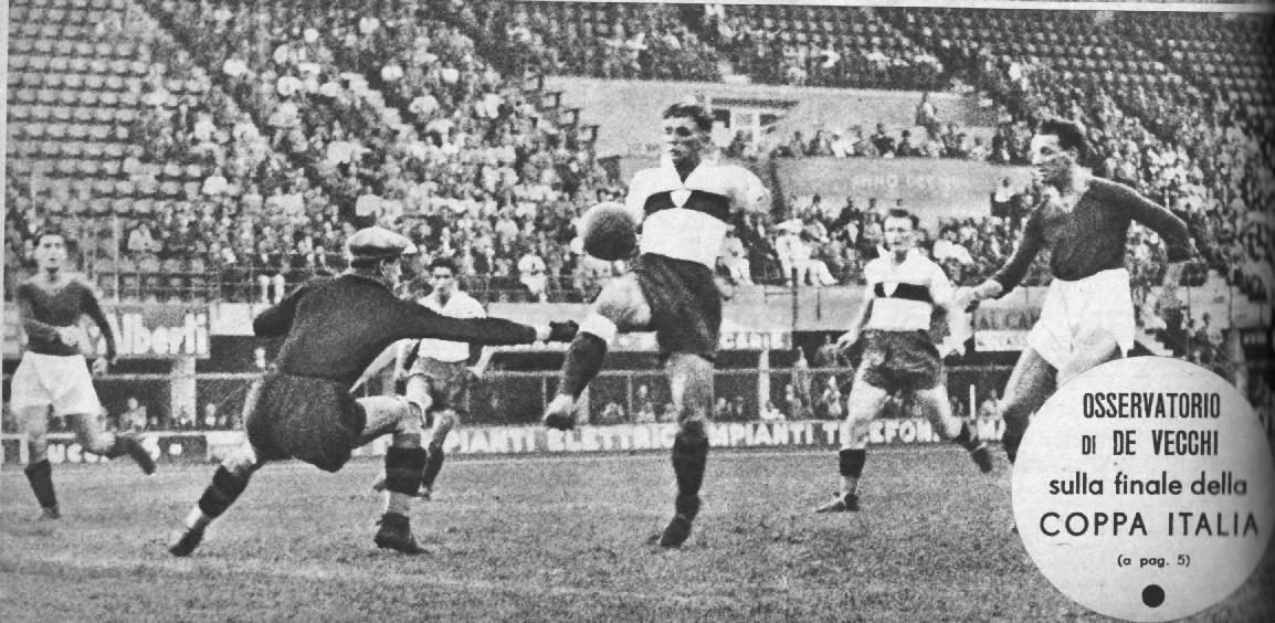 Il gol vittoria di Torti nella finalle di Coppa Italia 1937 Genoa-Roma 1-0