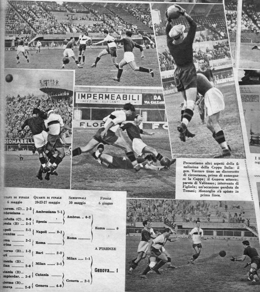 Le immagini di Genoa-Roma 1-0 finale Coppa Italia 1936 1937