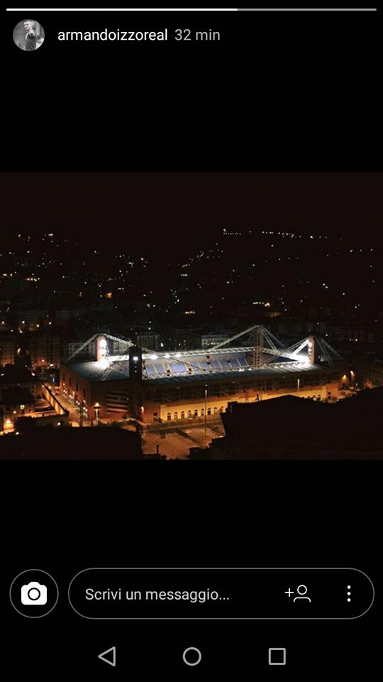 Lo stadio Luigi Ferraris (Dalle storie Instagram di Armando Izzo)