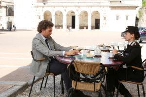 Maurizio Lastrico e Maria Chiara Giannetta (Foto copyright RAI)