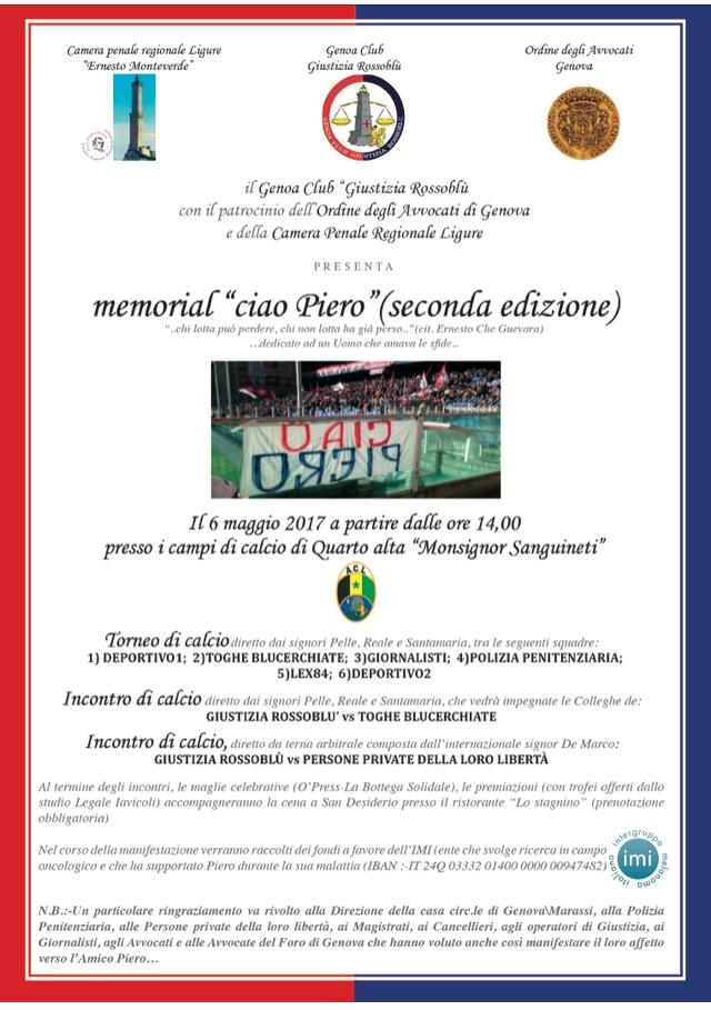 La locandina della seconda edizione del memorial