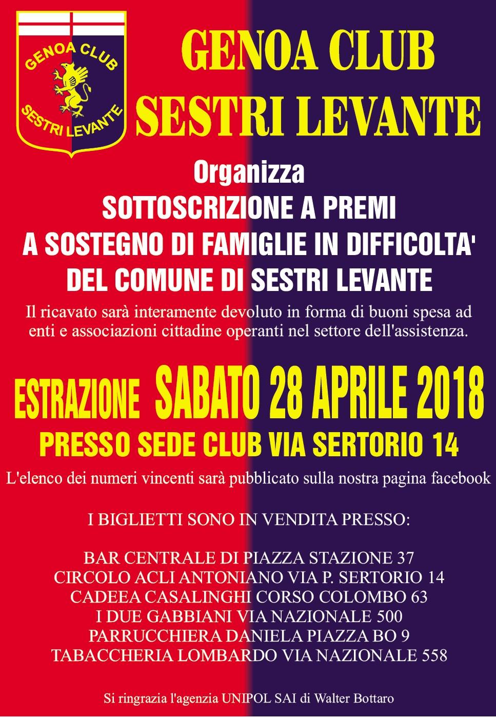 Lotteria Genoa Club Sestri Levante
