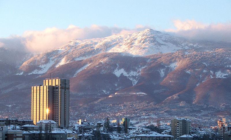 Il monte Vitosha che domina Sofia (Da Wikipedia)
