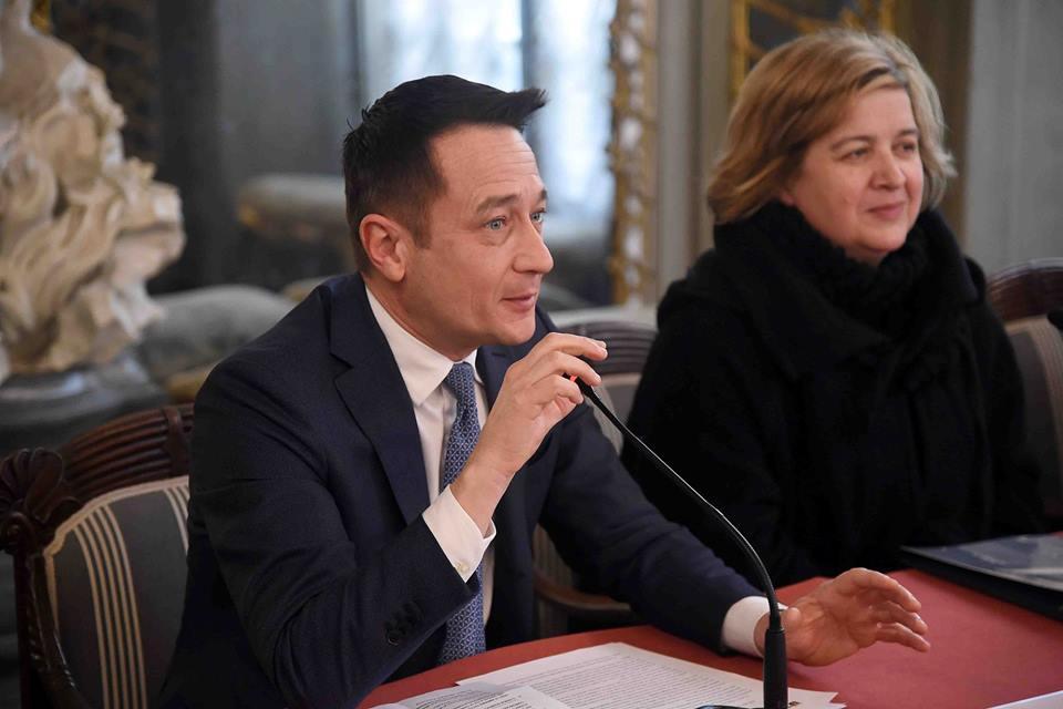 Zarbano durante la presentazione al Senato di Quarta Categoria (Foto Lingria / Lega Serie A)