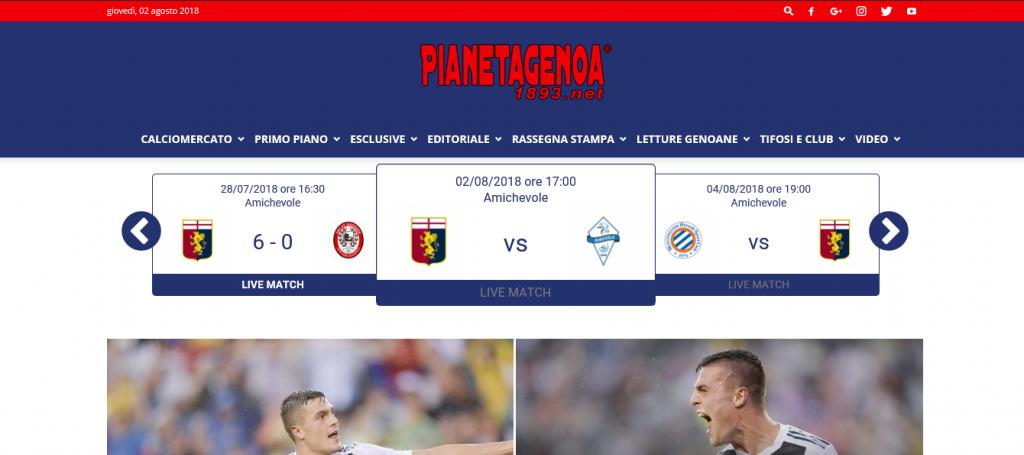 Seguite Genoa-Albissola sul Live Match di Pianetagenoa1893 ...