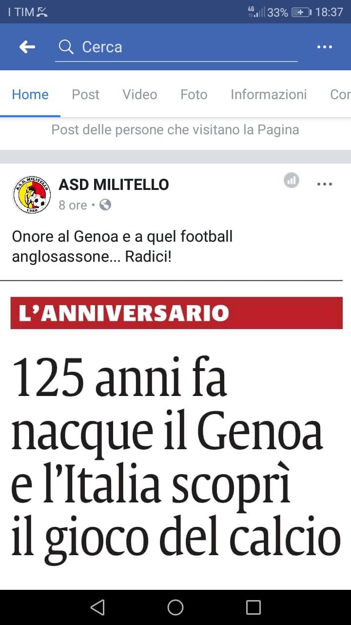 Gli Auguri Al Genoa Anche Da Un Piccolo Club Siciliano