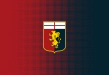 Genoa-Carpi Preziosi Logo Genoa Cagia FIGC Grifone