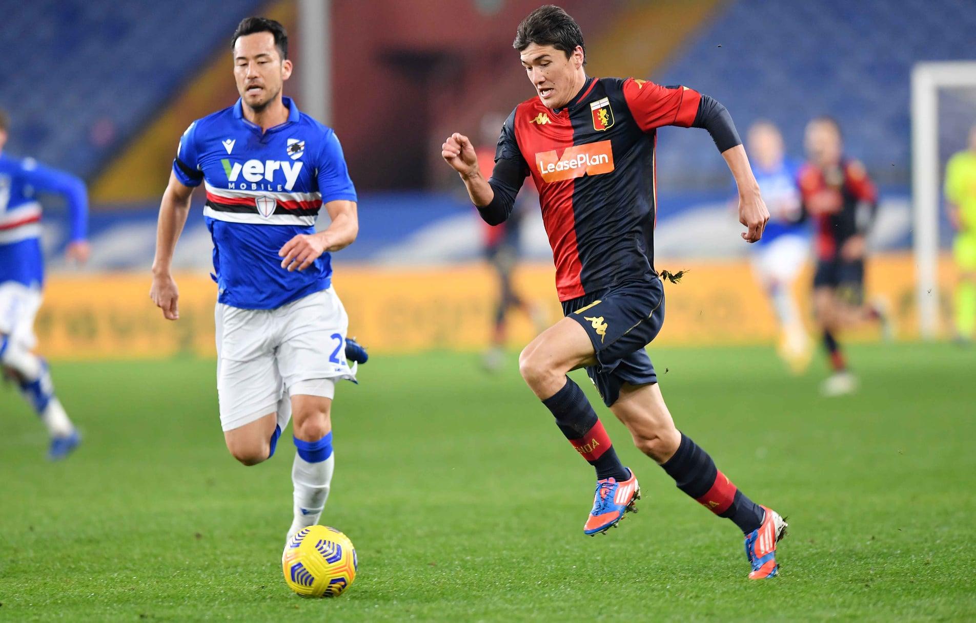 Shomurodov Yoshida Sampdoria-Genoa