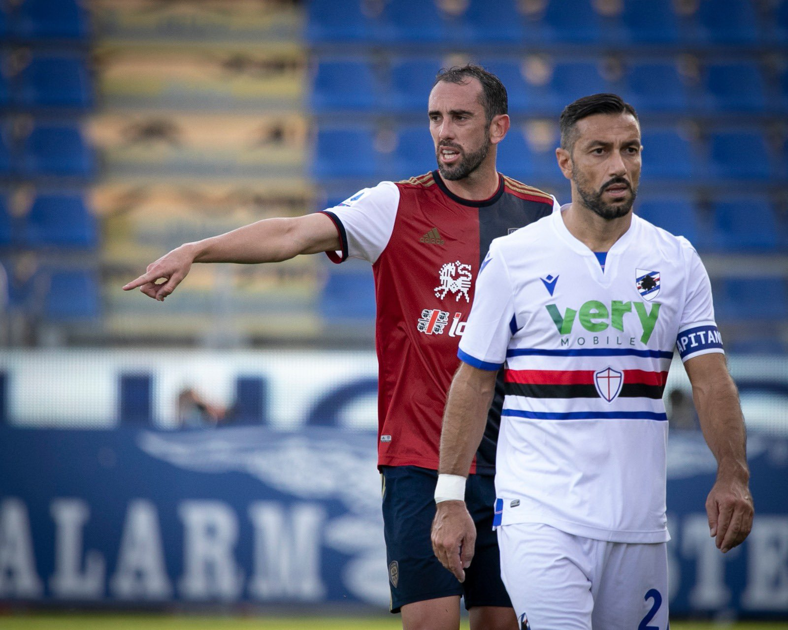Godin Quagliarella Serie A Cagliari-Sampdoria